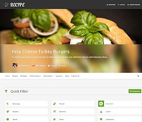 Recipe WordPress Theme via ThemeForest