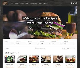 Recipes WordPress Theme via ThemeForest