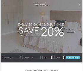 Rent a Hotel WordPress Theme via ThemeForest