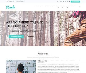 Resala WordPress Theme via ThemeForest