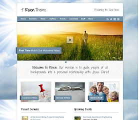 Risen WordPress Theme via ThemeForest