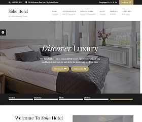 Soho Hotel WordPress Theme via ThemeForest