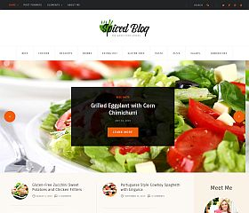 Spiced Blog WordPress Theme via ThemeForest