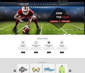 Sports Store WordPress Theme via ThemeForest