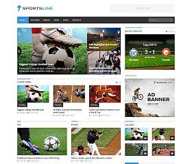 Sportsline WordPress Theme via ThemeForest
