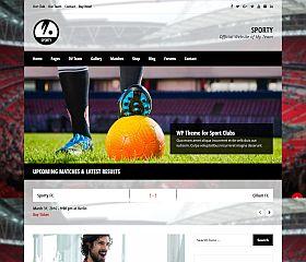 Sporty WordPress Theme via ThemeForest