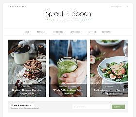 Sprout & Spoon WordPress Theme via ThemeForest