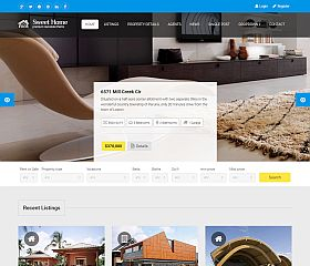 Sweethome Website Template via ThemeForest
