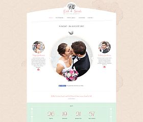 The Wedding Day WordPress Theme via ThemeForest