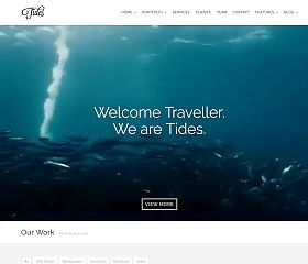 Tides WordPress Theme via ThemeForest