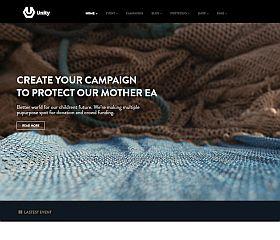 Unity WordPress Theme via ThemeForest