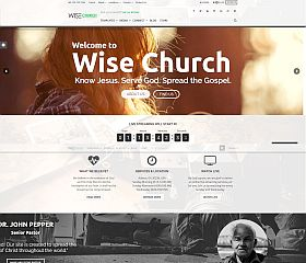 Wise Church WordPress Theme via ThemeForest