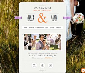 Just Married WordPress Theme by ThemeFuse