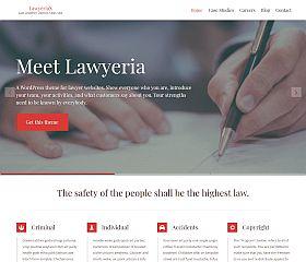 LawyeriaX WordPress Theme by ThemeIsle