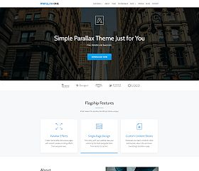Parallax One WordPress Theme by ThemeIsle