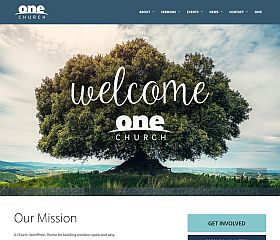 One Church Theme WordPress Theme by UpThemes