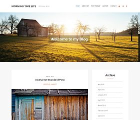 Morning Time Lite WordPress Theme by WPlook