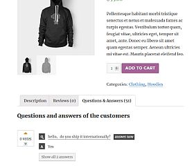YITH WooCommerce Questions & Answers WordPress Plugin